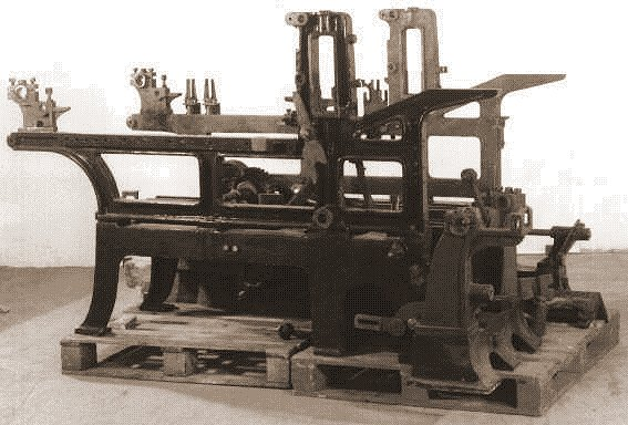 19th century lithography press